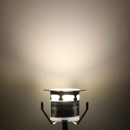 10PCS 32mm LED kleine vertiefte eingelassene Untertageplattform-Lichter