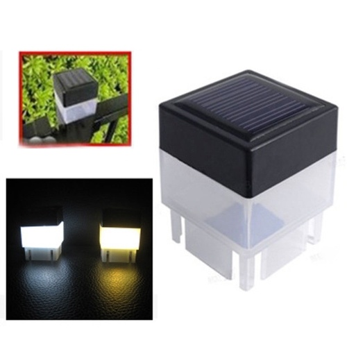 Outdoor Solar Powered Light Fence Yard Post Pool LED Square Light Courtyard Landscape Garden Lamp