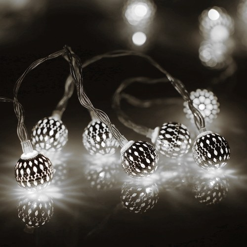 Christmas 2M 20 LEDs String light Moroccan Ball Battery Box String Light
