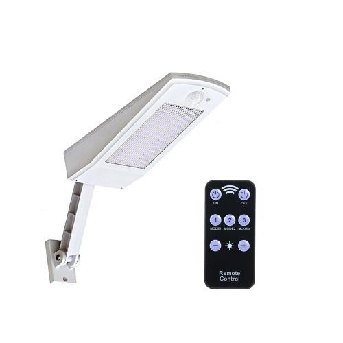 Luz posta solar do sensor de movimento da lâmpada de parede de 3.2V 7W 66LEDs com controlador remoto