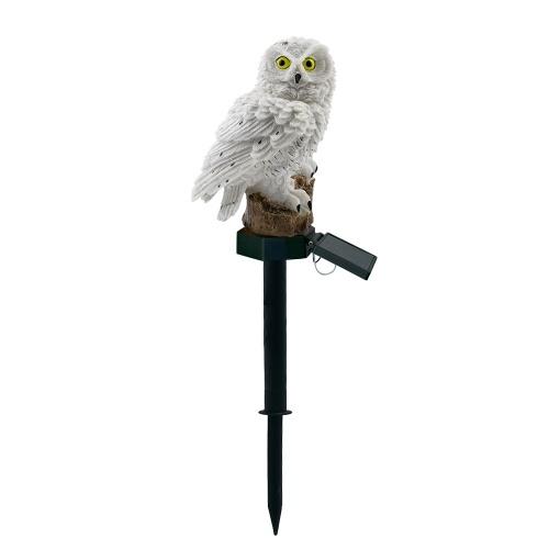 Owl Design Solar Power Energy Lámpara LED para césped