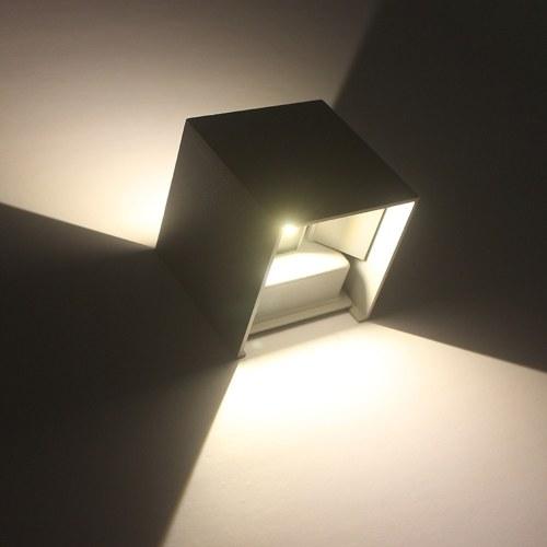 AC85-265V 12W LED Lámpara de pared Aluminio Ángulo de haz ajustable Luz al aire libre