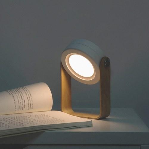 Lámpara de escritorio plegable de la tabla de la luz LED de la linterna de la manija de madera