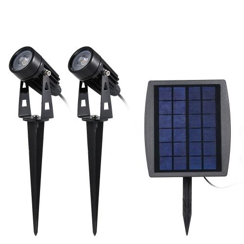 Solarbetriebene Rasenleuchte