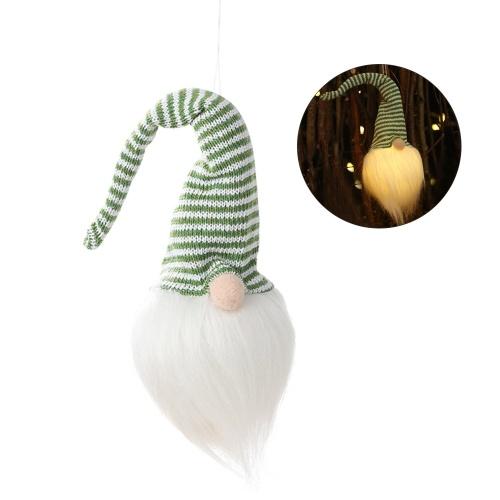 Weihnachtspuppen-Dekoration LED beleuchten glühenden Forest Old Man Hanging Decorations