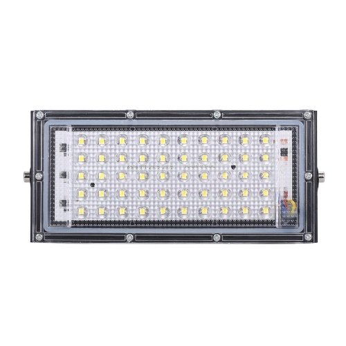 Lâmpada AC110V portátil 50W economizadora de energia para projeto externo com iluminação leve de grande área borda de alumínio 6500K holofote branco fresco
