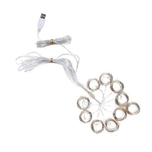 3 * 3-M 300 L-EDs Lámpara de cortina Cable suave USB Cortina completa Luz estrellada Luz de cadena navideña