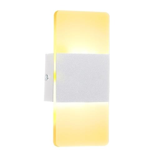 LED Wall Lamp Rectangle AC85-265V Bedside Corridor Wall Lamp Home Decorative Aluminum Light Fixture(14x6cm)