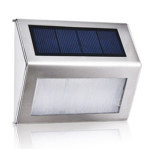 3L-ED Stainless Steel Solar Garden Light for Outdoor Stairs Paths Patio L-ED Solar Street Light
