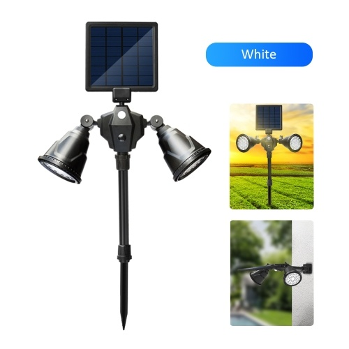 D C 6 V 3W Solar Powered Energy 36 LEDs Wall Lamp Lawn Light Sensitive Light C-ontrol/ PIR Motion Sensor Sensing White 4 Adjustable Working Modes IP65 Water Resistance Design Built-in 2 * 2600mAh High Capacity Rechargeable Cell for Patio Courtyard Yard Garden Outdoor Decoration