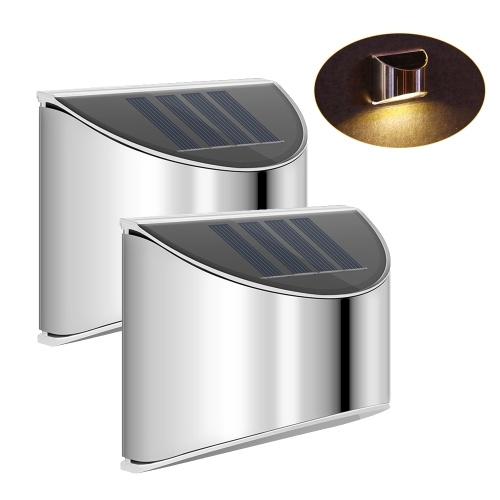 屋外ソーラーステップライト太陽光発電Led照明フェンスライトヤードガーデン照明防水4 Ledウォールランプ