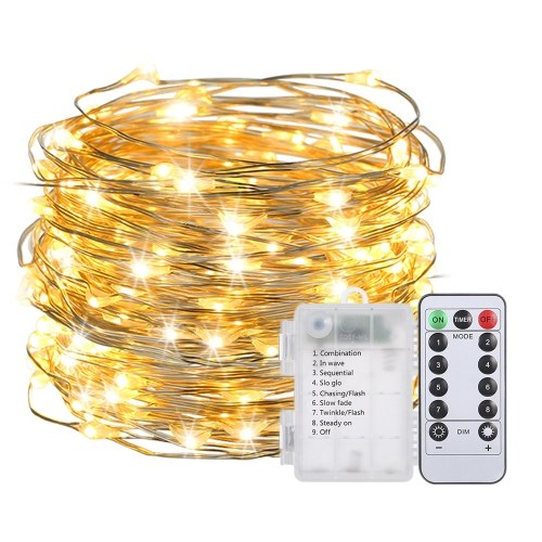Light String Light 10M / 32.8Ft 100LED com controle remoto