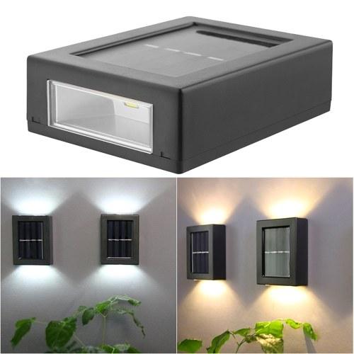2PCS Solar Wall Lamp Outdoor Waterproof Led Illuminated Light Yard Garden Street Stair Lighting Lamp