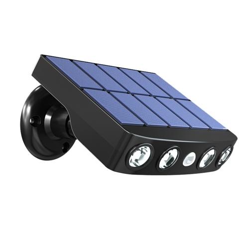 Solar Wall Lamp Outdoor Ultra Thin Waterproof Led Illuminated Light Yard Garden Street Stair Lightin