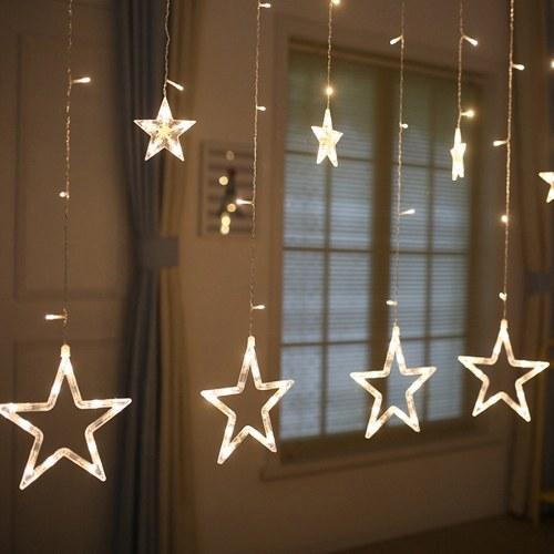 Led String Lights Maison Chambre Fenêtre Rideau Fête De Noël Festival De Mariage Décoratif String Lampe