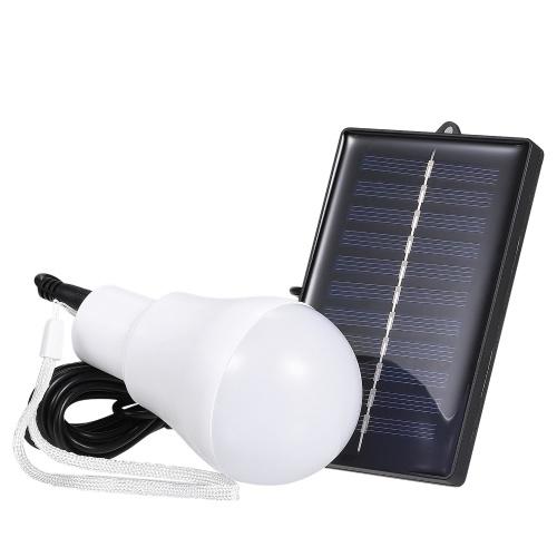 Solarbetriebene LEDs Glühbirne Tragbare hängende Nachtarbeitslampe Wiederaufladbare Lichter für das Wandern zu Hause Zelt Zelt lesen Camping