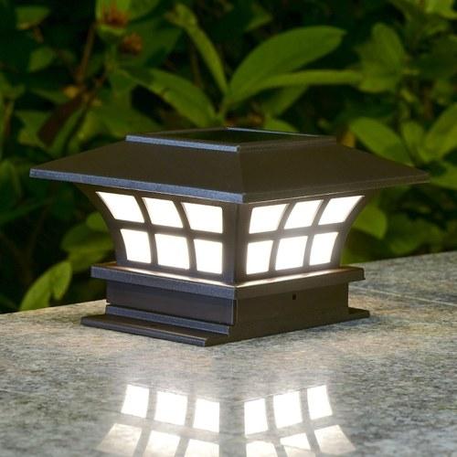 1W Energia Solar Powered LED Garden Yard Bollard Pilar lâmpada de controle sensível ao ar livre