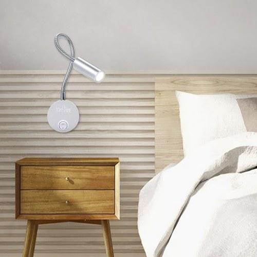 Tomshine 3W Светодиодный настенный светильник для прикроватной тумбочки Мягкая гибкая регулируемая трубка с переключателем