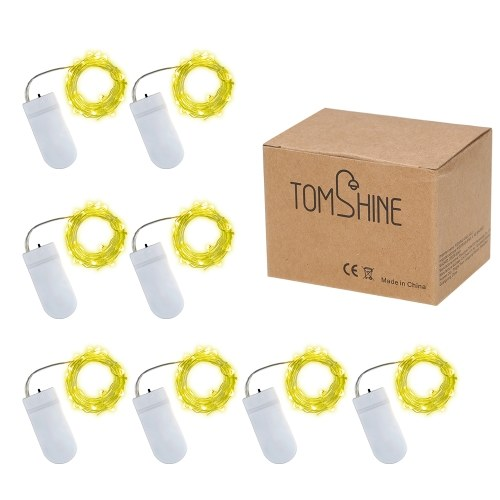 Tomshine 8 Pack 2 Meter 20 LED Lichterkette