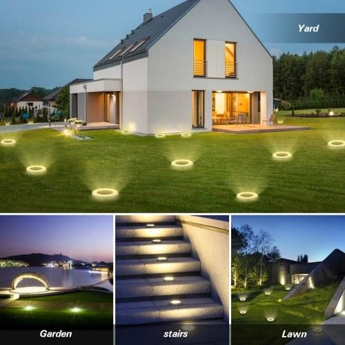Walkway Yard Lawn. Warm White Wireless LED Solar Garden Lights,Waterproof Solar Path Lights for Outdoor Patio Garden Lights Simple Buried Lights