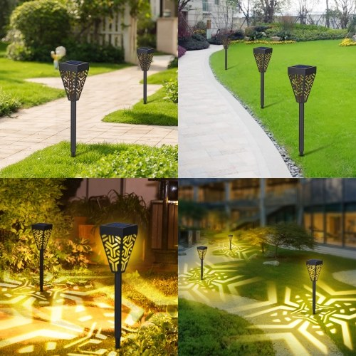 Tomshine Solar Powered Garden Lights LEDs Lawn Lamp Lighting Sensor Decorative Landscape Light Outdoor IP44 Water-resistance for Garden Yard Patio Courtyard (6pcs Warm White)