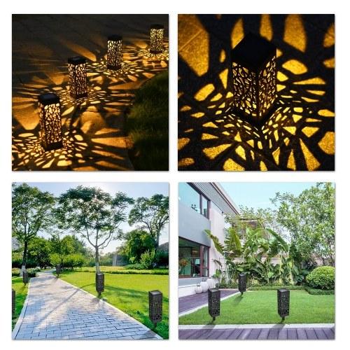 Tomshine DC2V Solar Powered Energy LEDs Lawn Lamp Hollow Pattern Design Q0F2