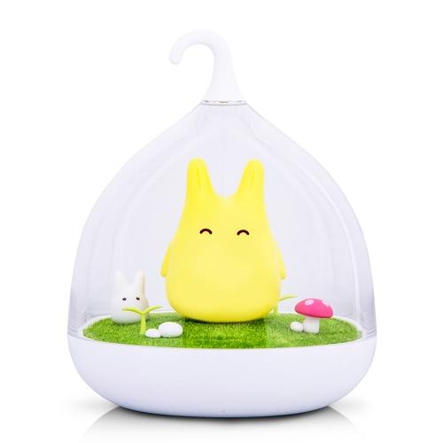 Creative Micro Landscape Night Lamp Симпатичные портативные светильники для спальни Baby Sleep Вибрация Dimmer Touch Sensor Домашние декорации Атмосфера Светло-желтый