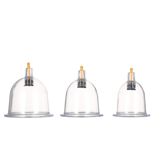 Professional Chinese Cupping Therapy Set with Pumping Handle 6PCS Vacuum Cups
