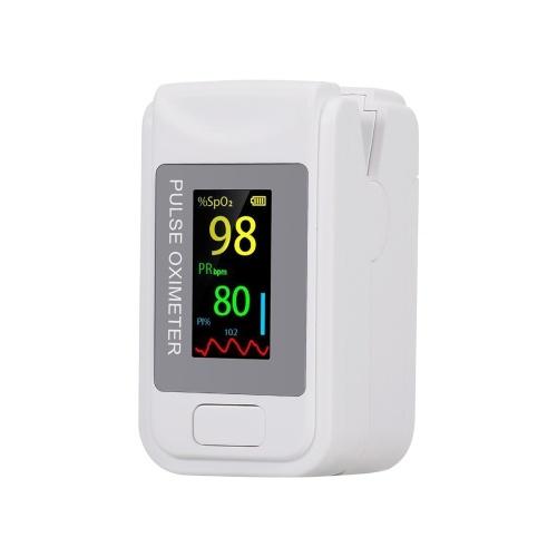 Pulsossimetro digitale a punta di dito Sensore di ossigeno nel sangue Saturazione LCD Mini SpO2 Monitor Misuratore di frequenza del polso per viaggi sportivi domestici