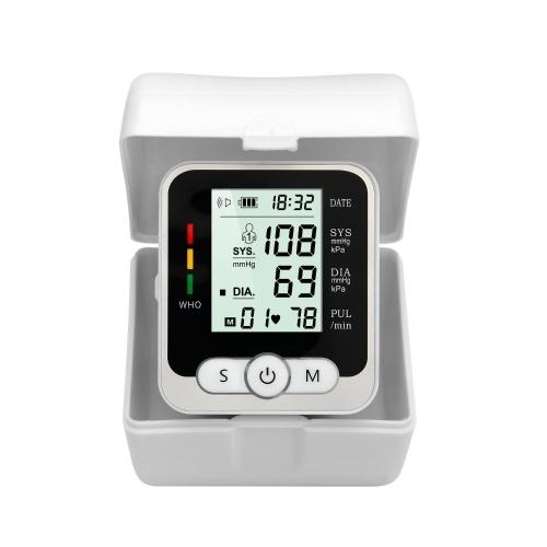 Monitor automatico della pressione sanguigna da polso, macchina digitale per la pressione sanguigna