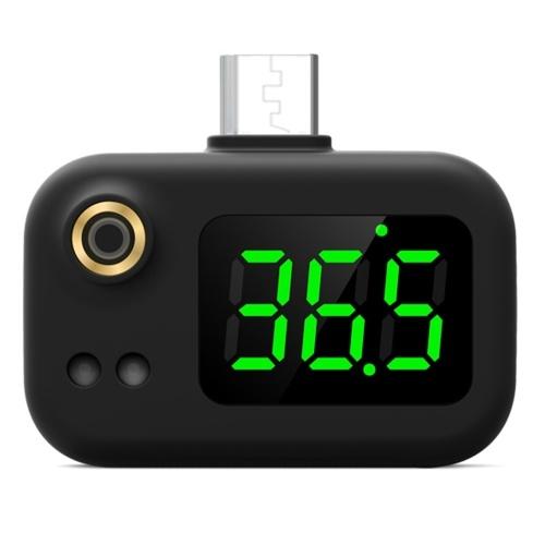 Termometro intelligente USB Termometro intelligente USB Termometro portatile mini cellulare Termometro USB a infrarossi di tipo senza contatto con giunto di tipo C Conversione ℃ / ℉