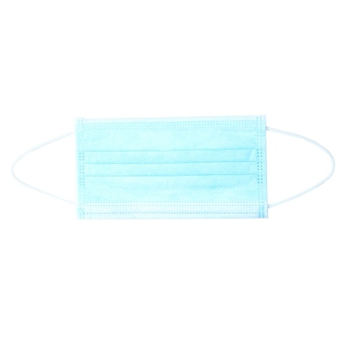 TOMTOP / 50pcs Disposable Mask 3 Layers Breathable Non-woven Earloop Face Mouth Cover Dust Pollen Allergies Filter Protective Sanitary Mask for Flu Season Dailywear Blue