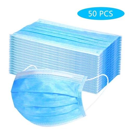50PCS Cover monouso 3 strati non tessuto antipolvere traspirante antipolvere antipolvere