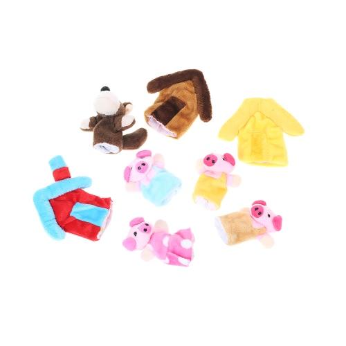 Finger Puppets Story Время Обучающий Кукольный Комплект Мультфильм Сказочные Куклы Набор для Детей Показывает Школы Игроков Фермер и Животные
