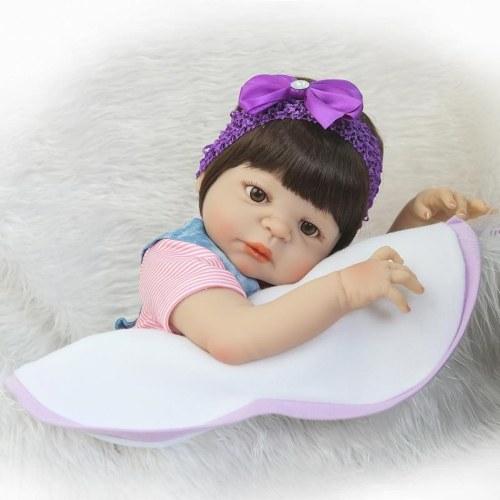 22 in Reborn Baby Wiedergeburt Puppe Kinder Geschenk alle Silikagel Mädchen
