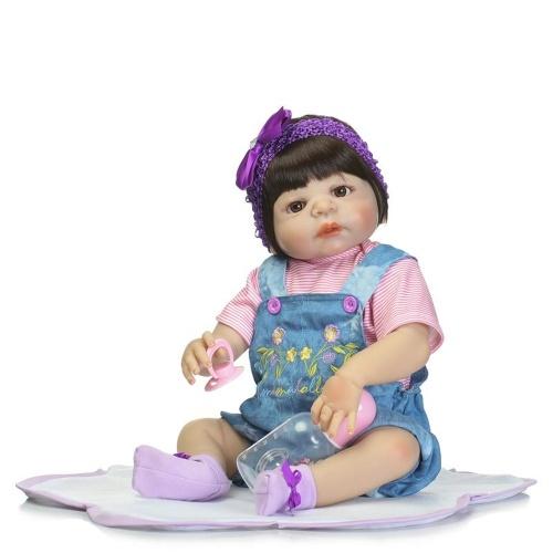 22in Renascer Bebê Rebirth Boneca Kids Presente All Silica Gel Girl