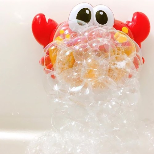 Funny Bath Bubble Maker Niños Automático cangrejo cangrejo baño de juguete