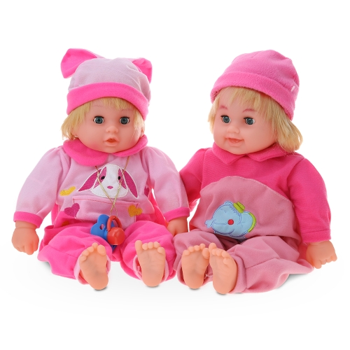 45cm/17.7in  Twins Talking Singing Baby Doll Reborn Touch Doll Play House Early Education Toys Gift Boneca