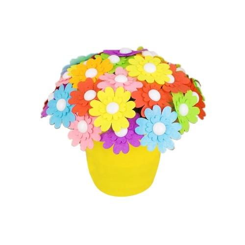 DIY Craft Handmade Button Bouquet Materials Железный пуговичный комплект для лепестков для детей
