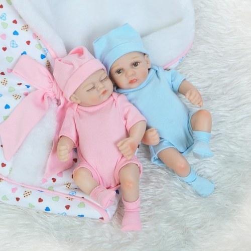 10in Reborn Baby Rebirth Doll Kids Gift Все силиконовые гель-близнецы
