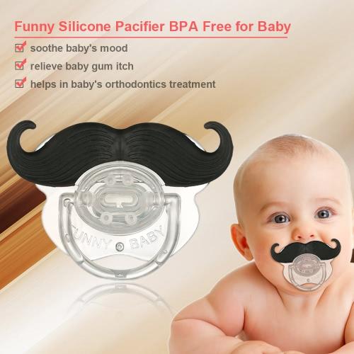 Drôle Mustache Sucette Silicone Pacifier Mustache BPA pour bébé nouveau-né