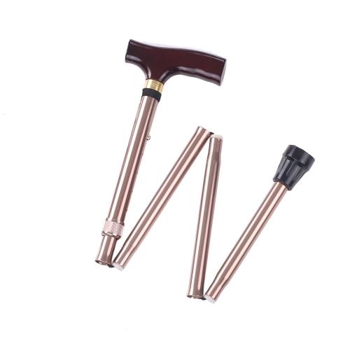 アルミニウム折りたたみ杖の高さ調整可能なウォーキングスティックスライド右と右手のためのスライド