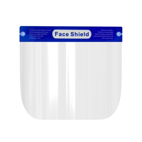 1 Pcs Protective Face Shield Clear Visor Flip Up Transparent Mask Anti Splash Elastic Band Full Face Cover for Workshop Cooking Cleaning