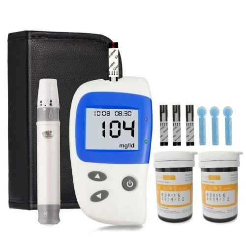 Blood Sugar Test Kit, Diabetes Blood Glucose Meter Monitor Kit with 50 Test Strips and 50 Lancets, Sugar Machine No Coding mg/dL