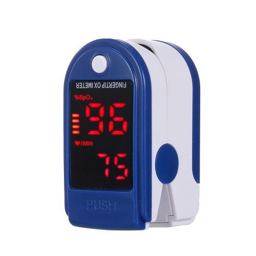 Пульсоксиметр на кончике пальца Мини-монитор SpO2 Монитор насыщения кислородом Устройство для измерения частоты пульса 5s Быстро считывающий светодиодный дисплей со шнуром
