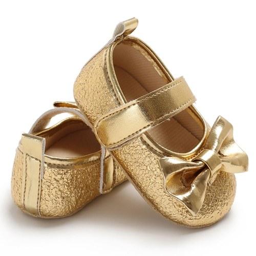 Обувь для новорожденных девочек для девочек Кожа PU Soft Sole Non-Slip