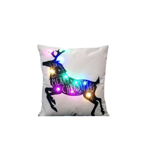 Pillow Cover LED Light Printing 45x45 Linen Pillowcase