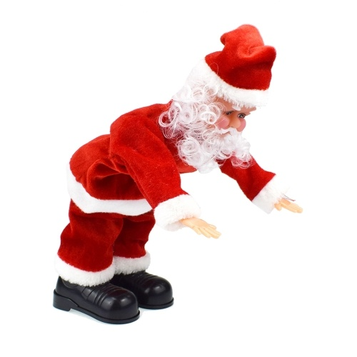 Santa Claus Somersault Stunt And Sing Christmas Songs