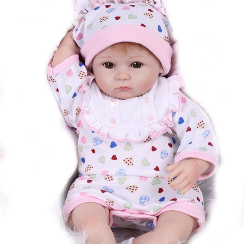 40cm Reborn Baby Doll Bath Toy Silicone Body Eyes Open With Clothes Lifelike Cute Gifts Toy