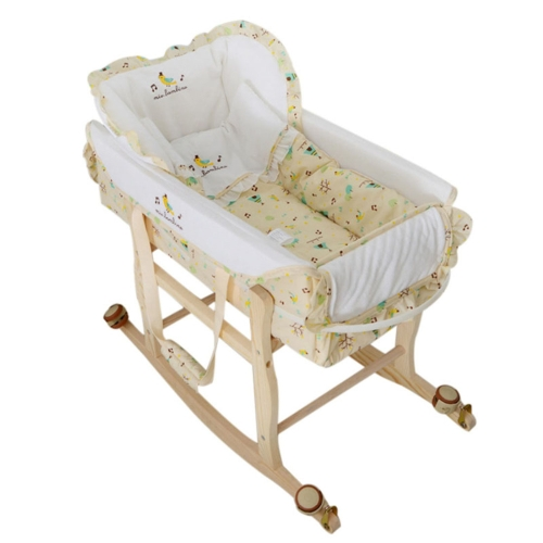 3 in 1 Portable Baby Cradle Bassinet Bed Newborn Baby Sleeping Travel Basket Crib with Mosquito Net